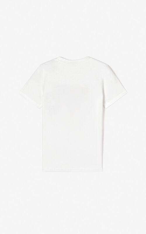 WHITE 3D Tiger T-shirt for unisex KENZO