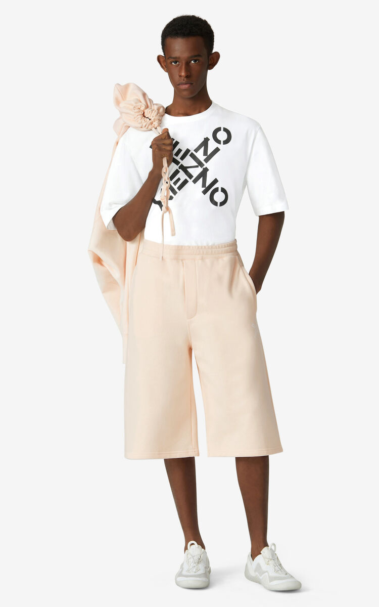 BLUSH Oversized KENZO Sport 'Little X' shorts for women