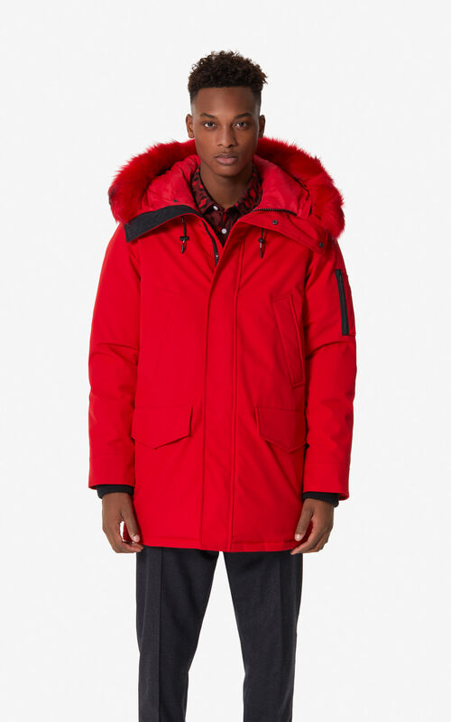 MEDIUM RED Long parka for men KENZO