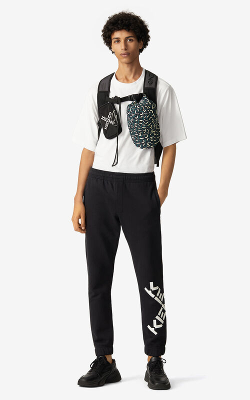 BLACK KENZO Sport 'Big X' joggers for men