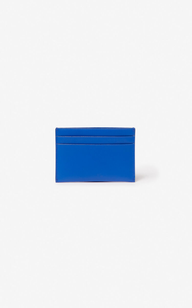 COBALT KENZO logo leather card holder for men