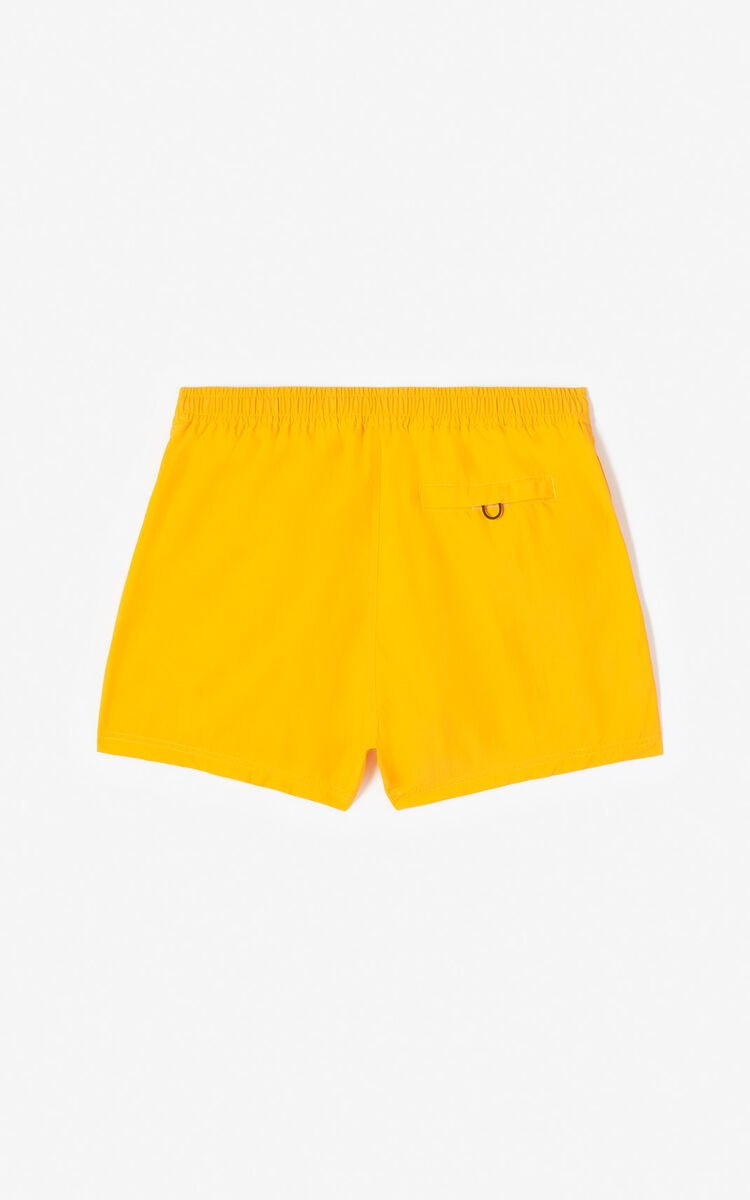 MEDIUM ORANGE KENZO Logo swim trunks for men