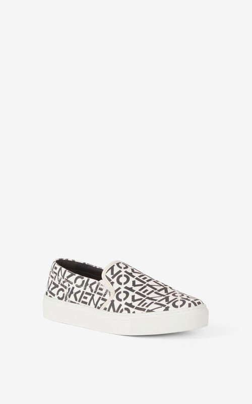 PEARL GREY K-Skate lace-free sneakers for unisex KENZO