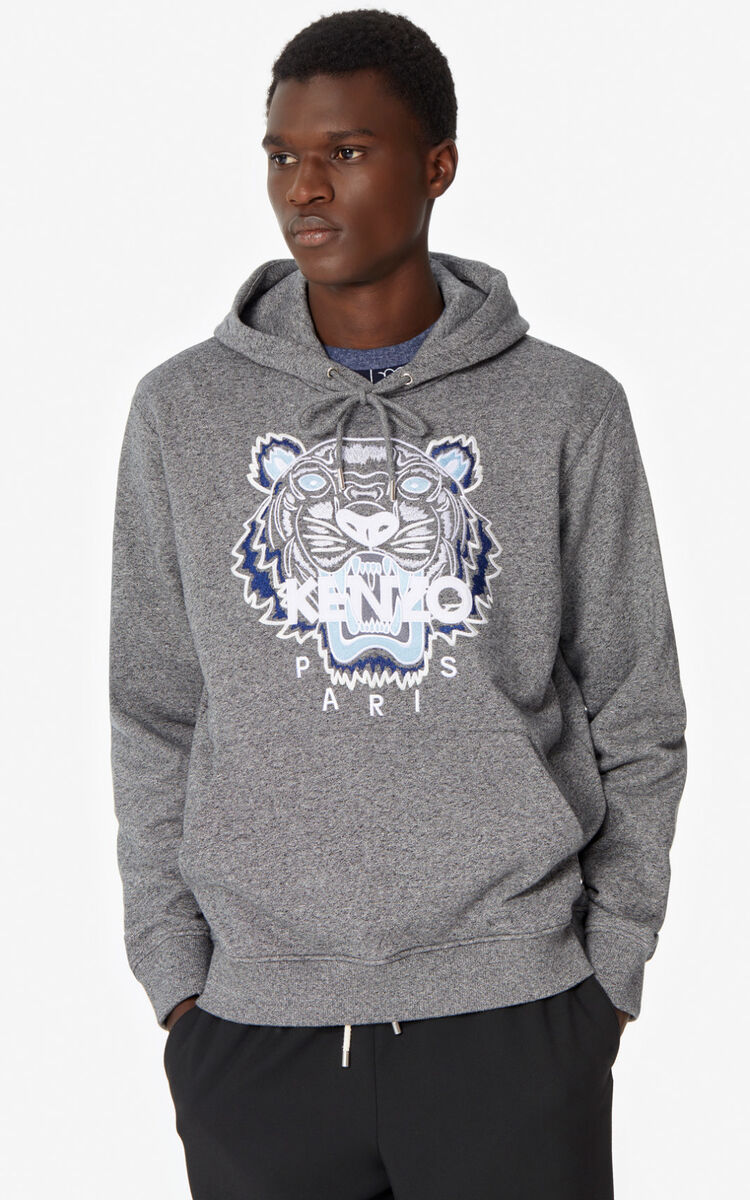 ANTHRACITE Tiger hooded sweatshirt for women KENZO