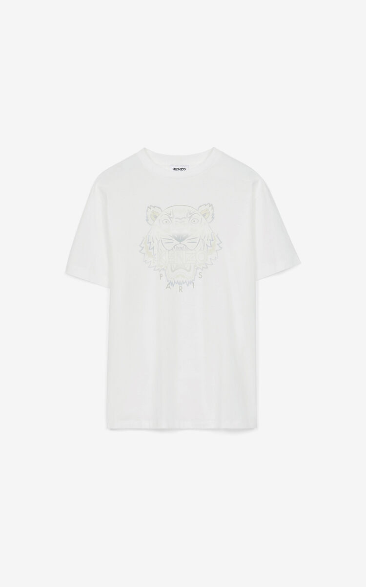 WHITE Oversize Tiger T-shirt for women KENZO