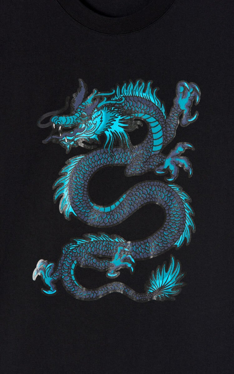 BLACK Dragon T-shirt for men KENZO