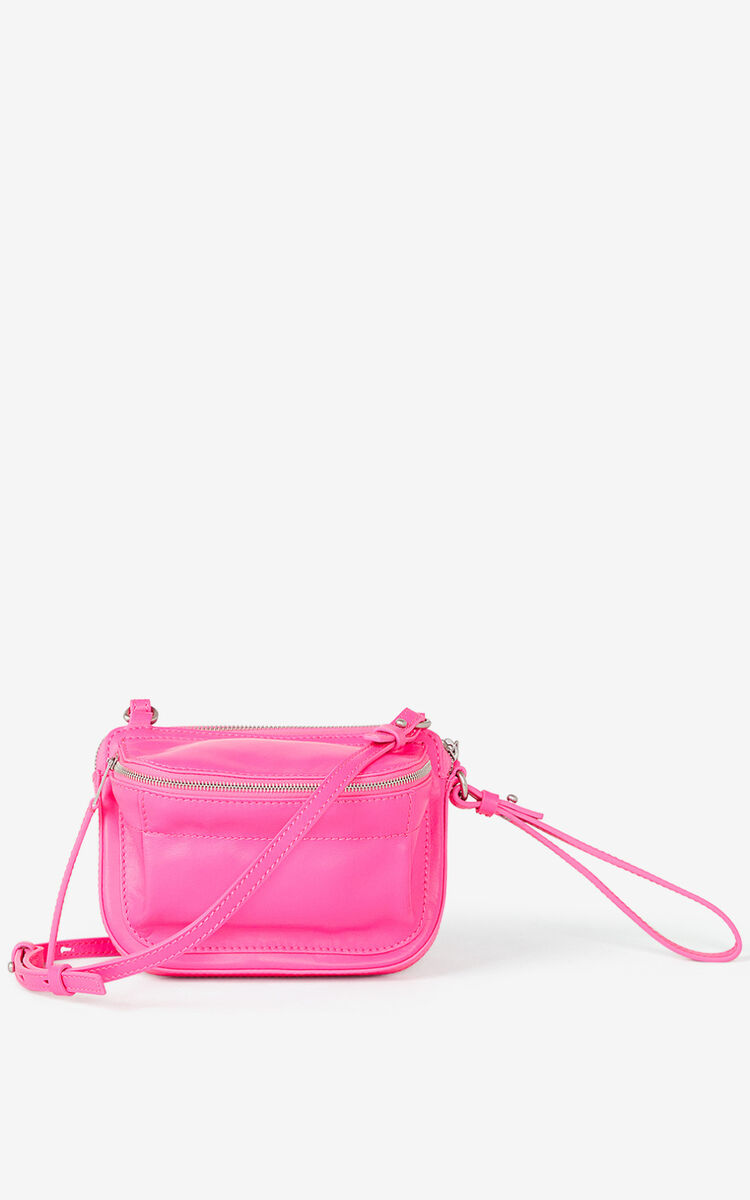 CORAL Leather bag with double pockets for women KENZO