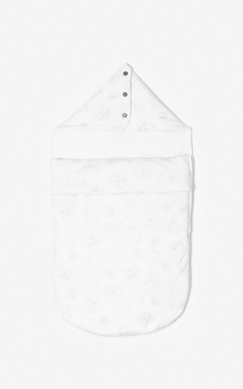 PEARL GREY 'Tiger Friends' sleeping bag for women KENZO