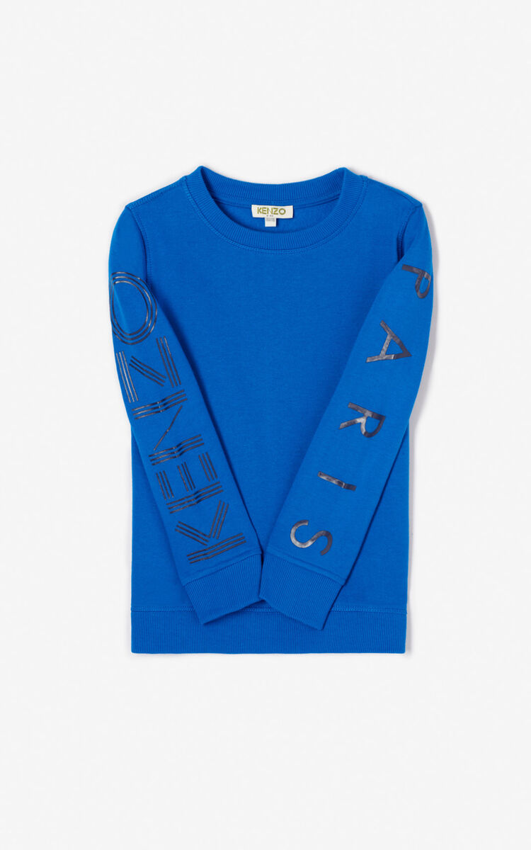 ROYAL BLUE KENZO logo sweatshirt for women