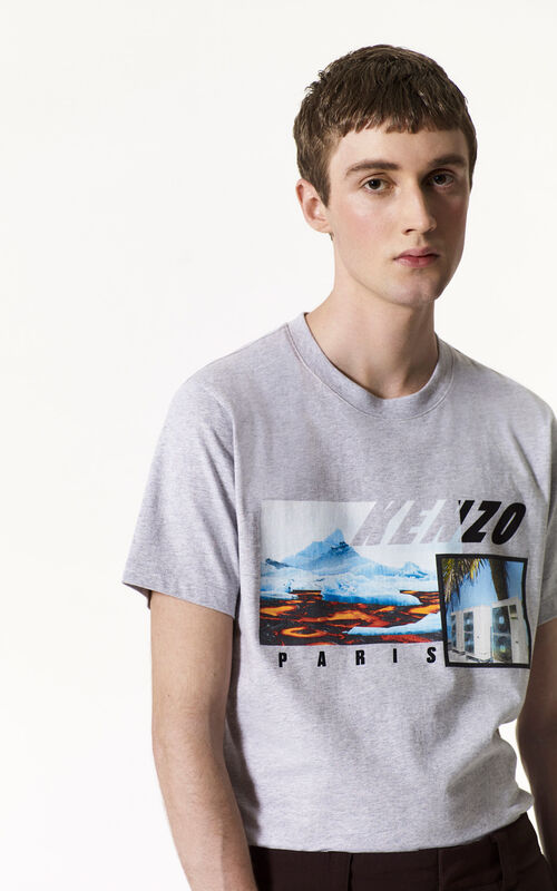 PEARL GREY KENZO Landscape T-shirt for men