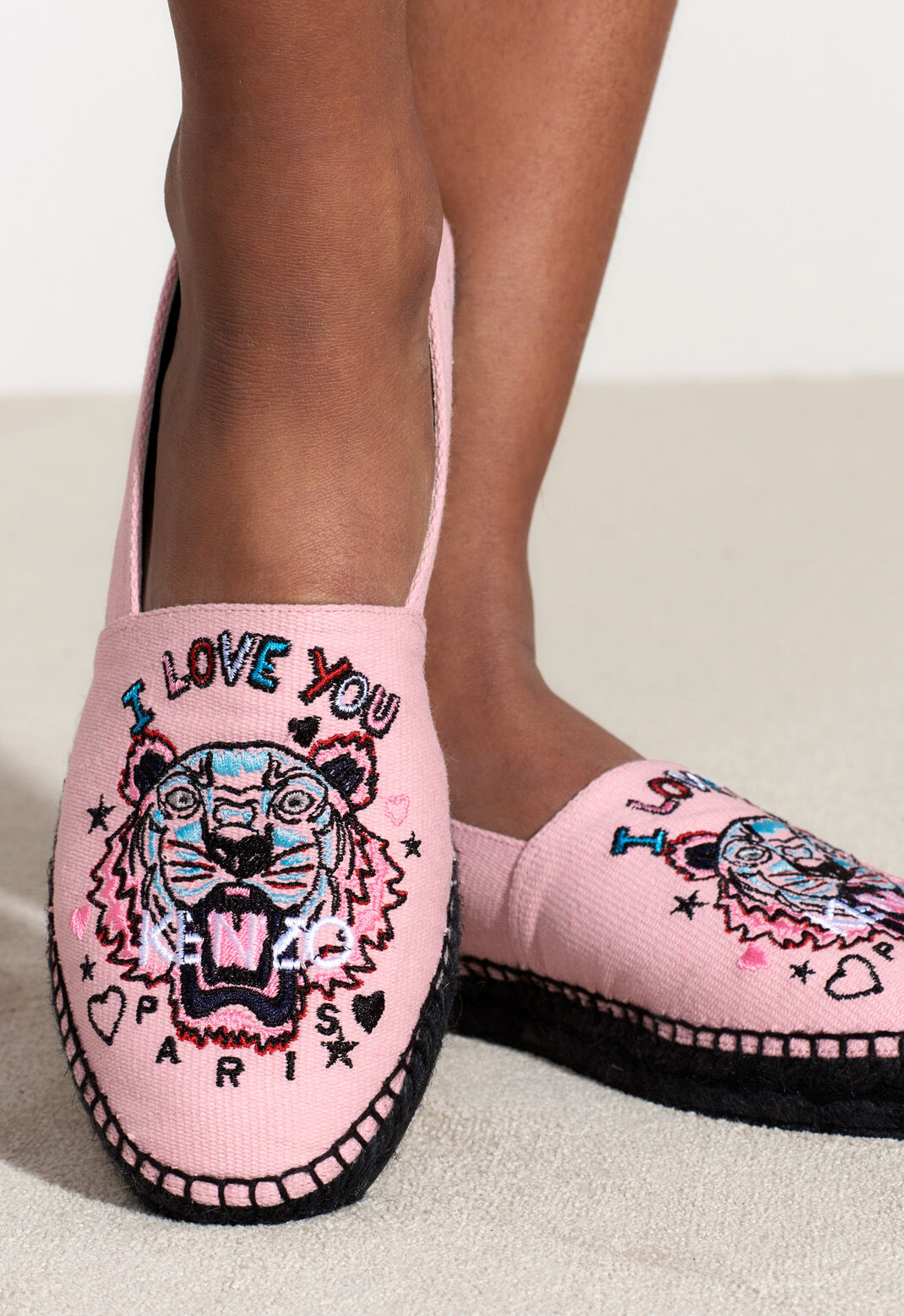 FADED PINK 'Tiger x I Love You' Espadrilles for unisex KENZO