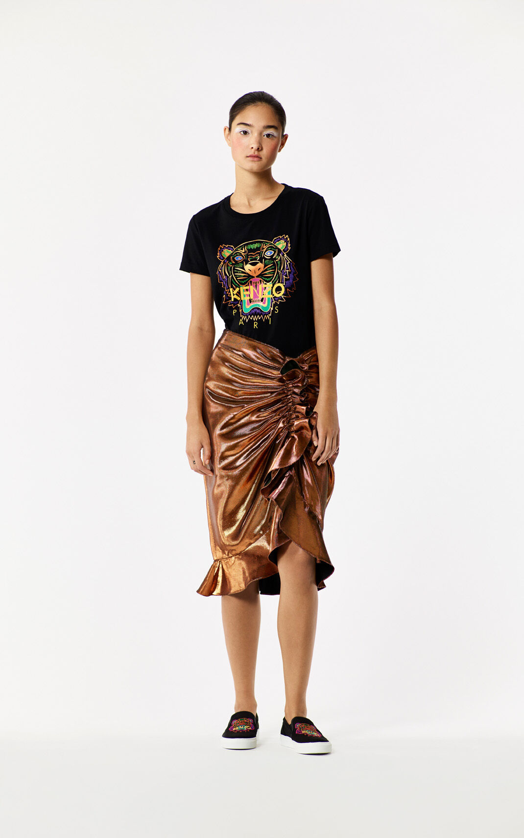 BLACK 'Holiday Capsule Collection' Tiger T-shirt for women KENZO