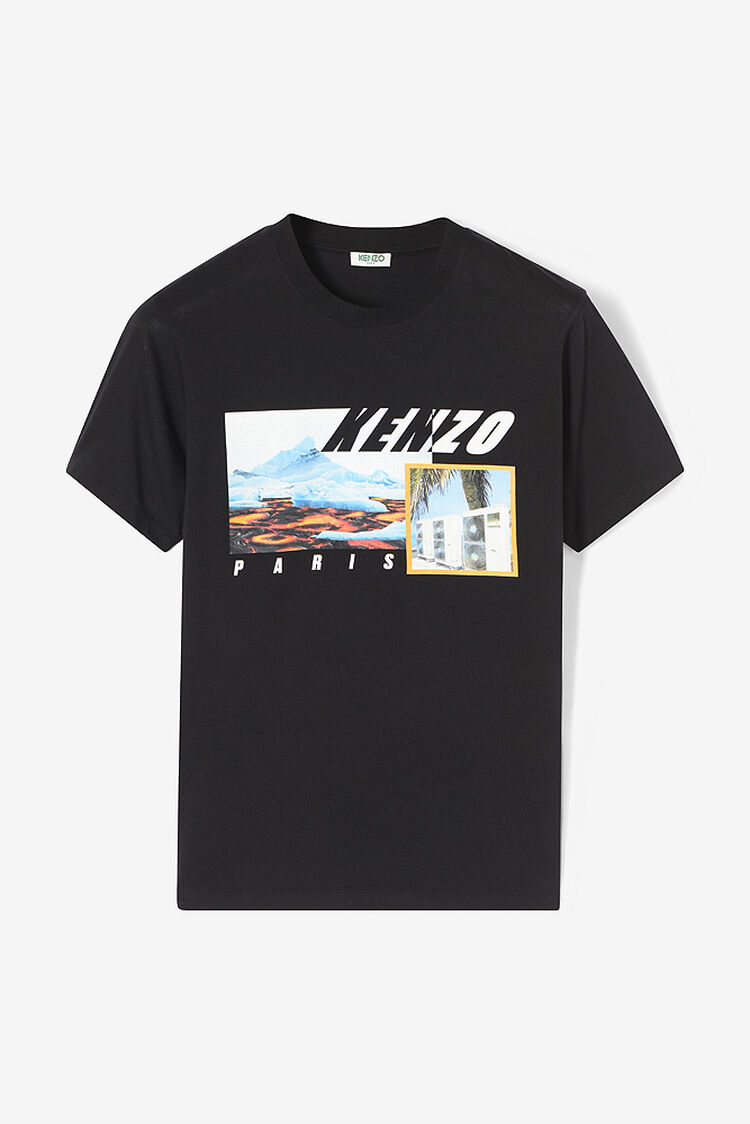 BLACK KENZO Landscape T-shirt for women