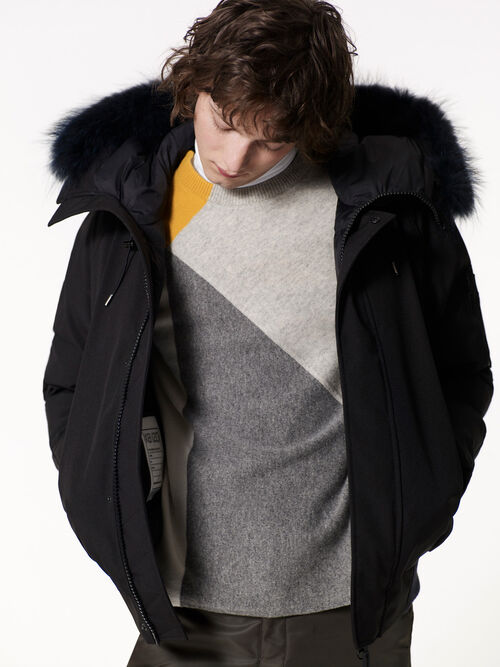 BLACK Short Parka Puffa for men KENZO