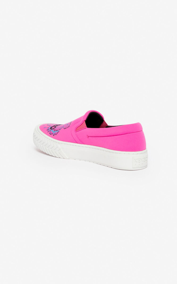 DEEP FUSCHIA K-Skate Tiger slip-on shoes for unisex KENZO
