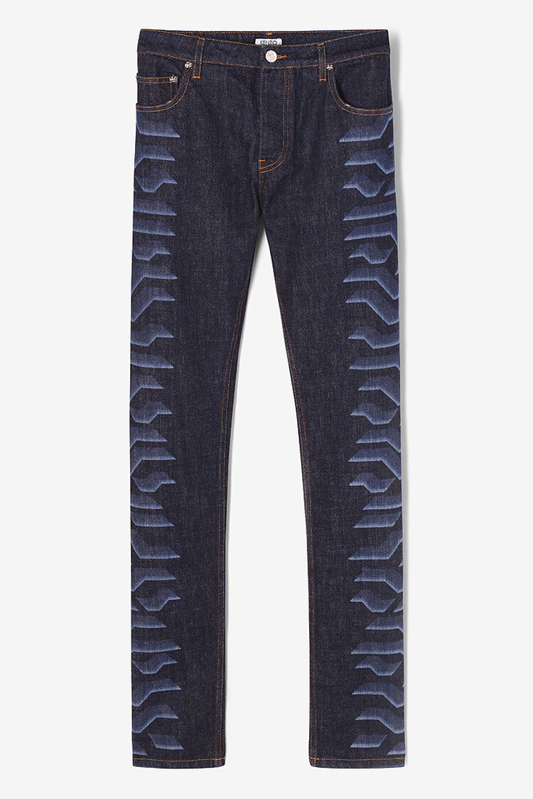 NAVY BLUE Geo Tiger Jeans for men KENZO