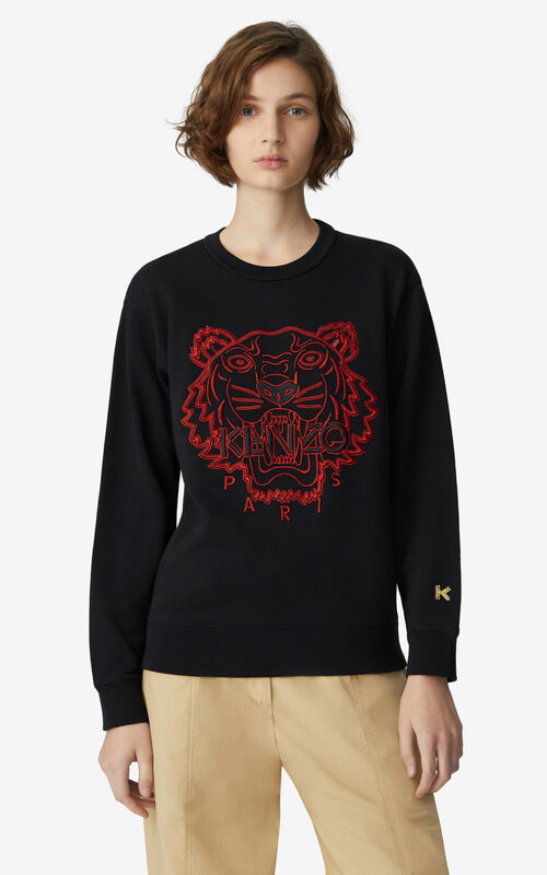 BLACK 'Chinese New Year Capsule' Tiger sweatshirt for women KENZO