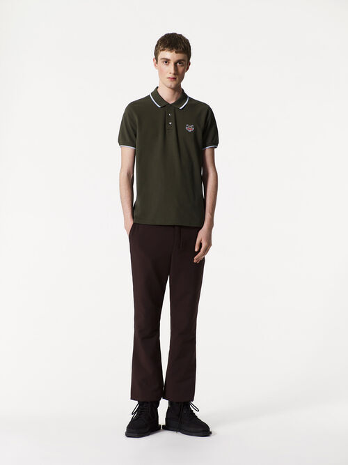 DARK KHAKI Tiger Polo Shirt for men KENZO