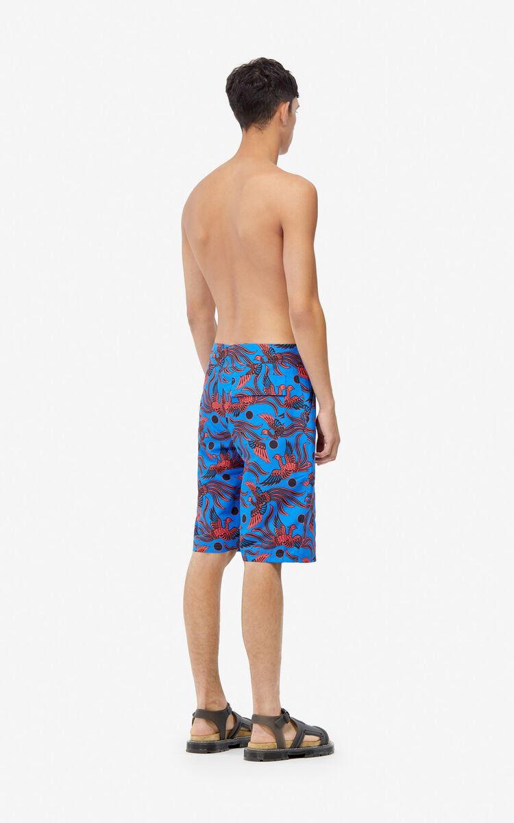 2151d48d3a COBALT 'Flying Phoenix' swim trunks for men KENZO