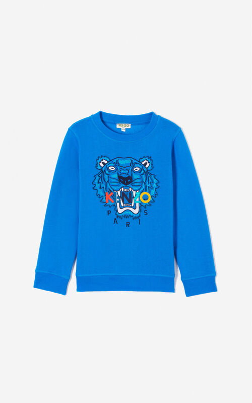 ELECTRIC BLUE Tiger sweatshirt for unisex KENZO
