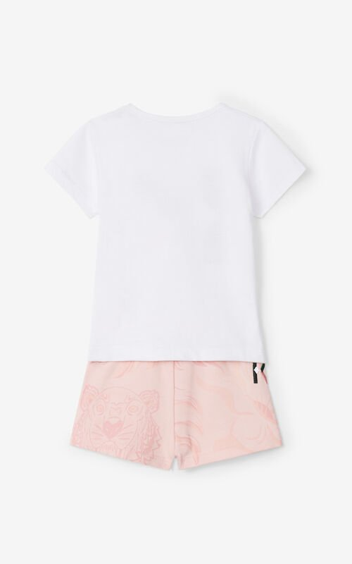 OFF WHITE T-shirt and shorts set for women KENZO