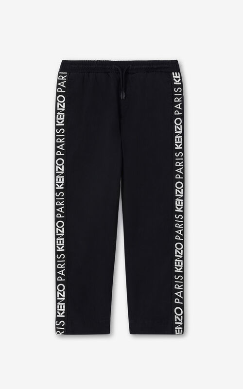 BLACK KENZO Paris 'Vegas' trousers for unisex