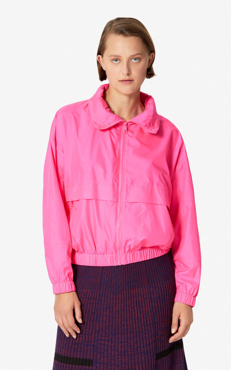 DEEP FUSCHIA KENZO logo wind stopper for women