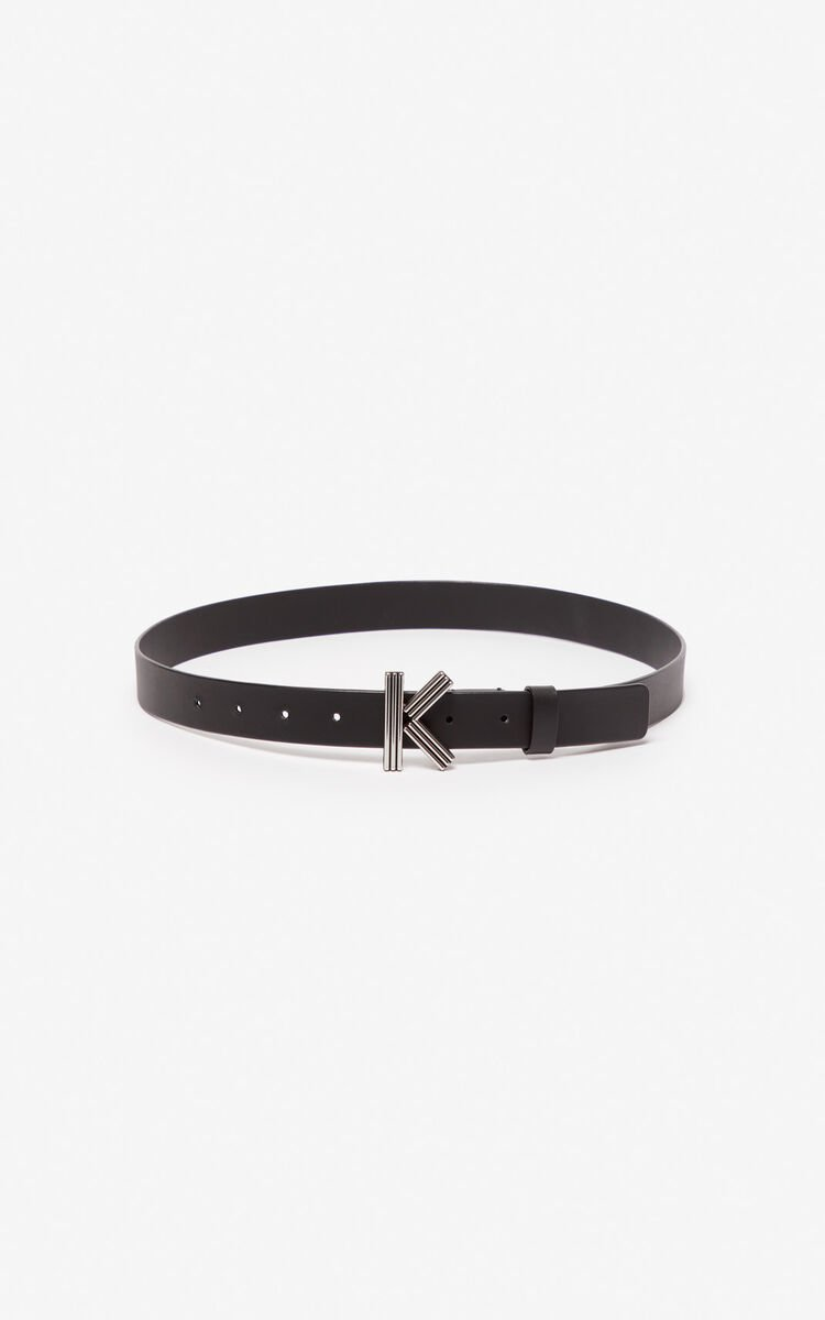 BLACK Thin K-Bag belt for global.none KENZO