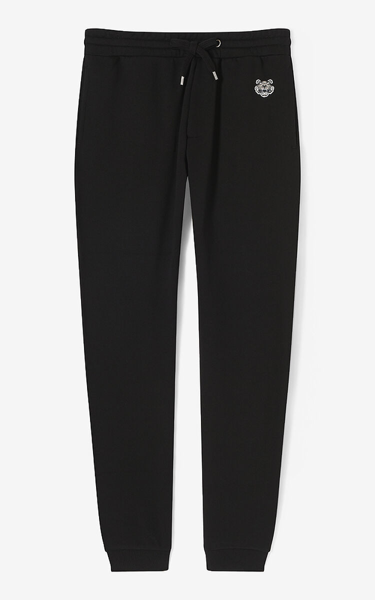 BLACK Tiger joggers for men KENZO
