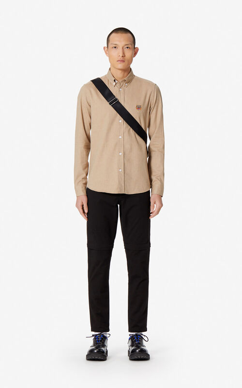 PALE CAMEL Tiger slim-fit shirt for men KENZO
