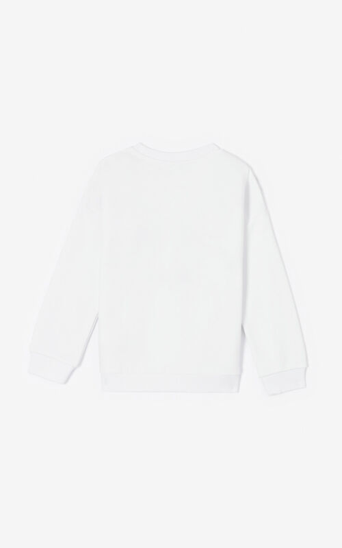 WHITE 'Tiger Friends' sweatshirt for unisex KENZO
