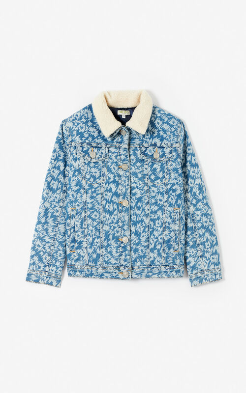SKY BLUE 'Fantastic Jungle' denim jacket for women KENZO