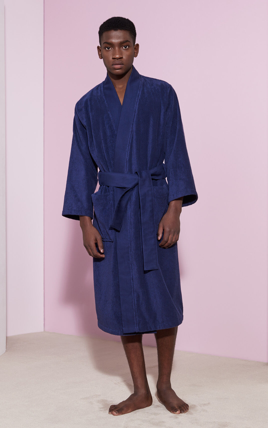 NAVY BLUE Tiger Dressing Gown for men KENZO
