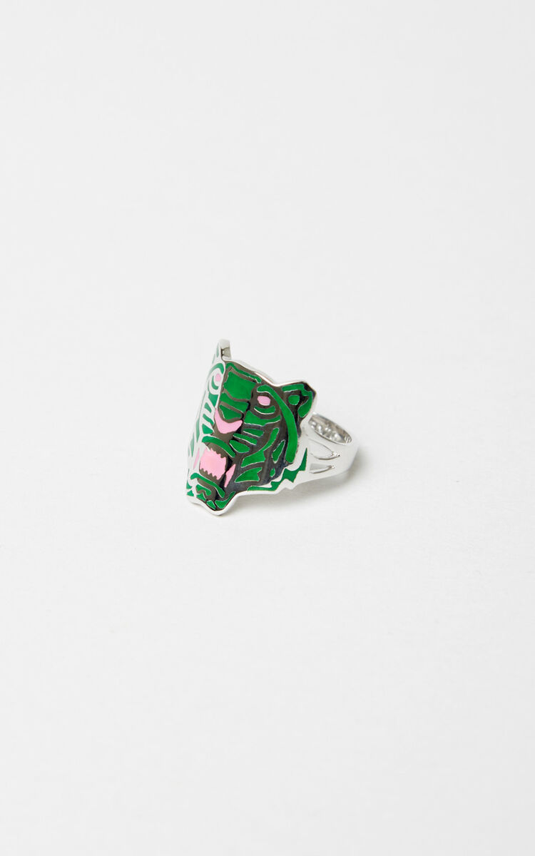 MEDIUM RED Colored Tiger ring for unisex KENZO