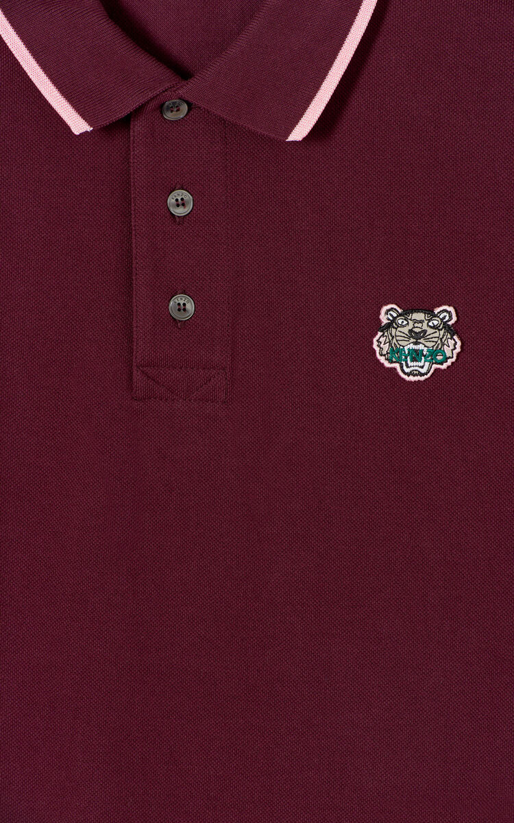 BORDEAUX Slim fit Tiger polo shirt for men KENZO