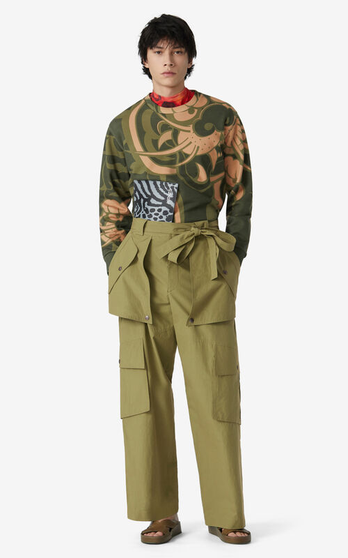 OLIVE Wide cargo trousers for men KENZO