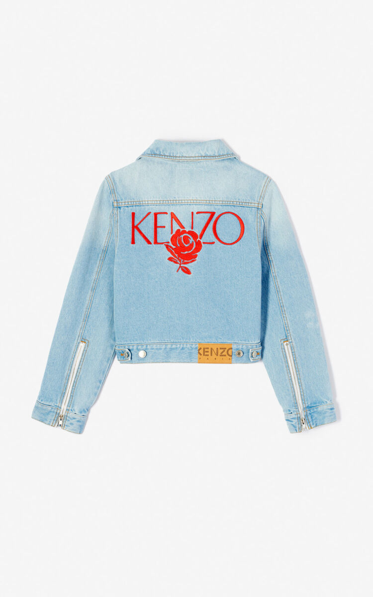 SKY BLUE Denim jacket for women KENZO