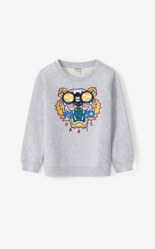 PEARL GREY Tiger sweatshirt for unisex KENZO