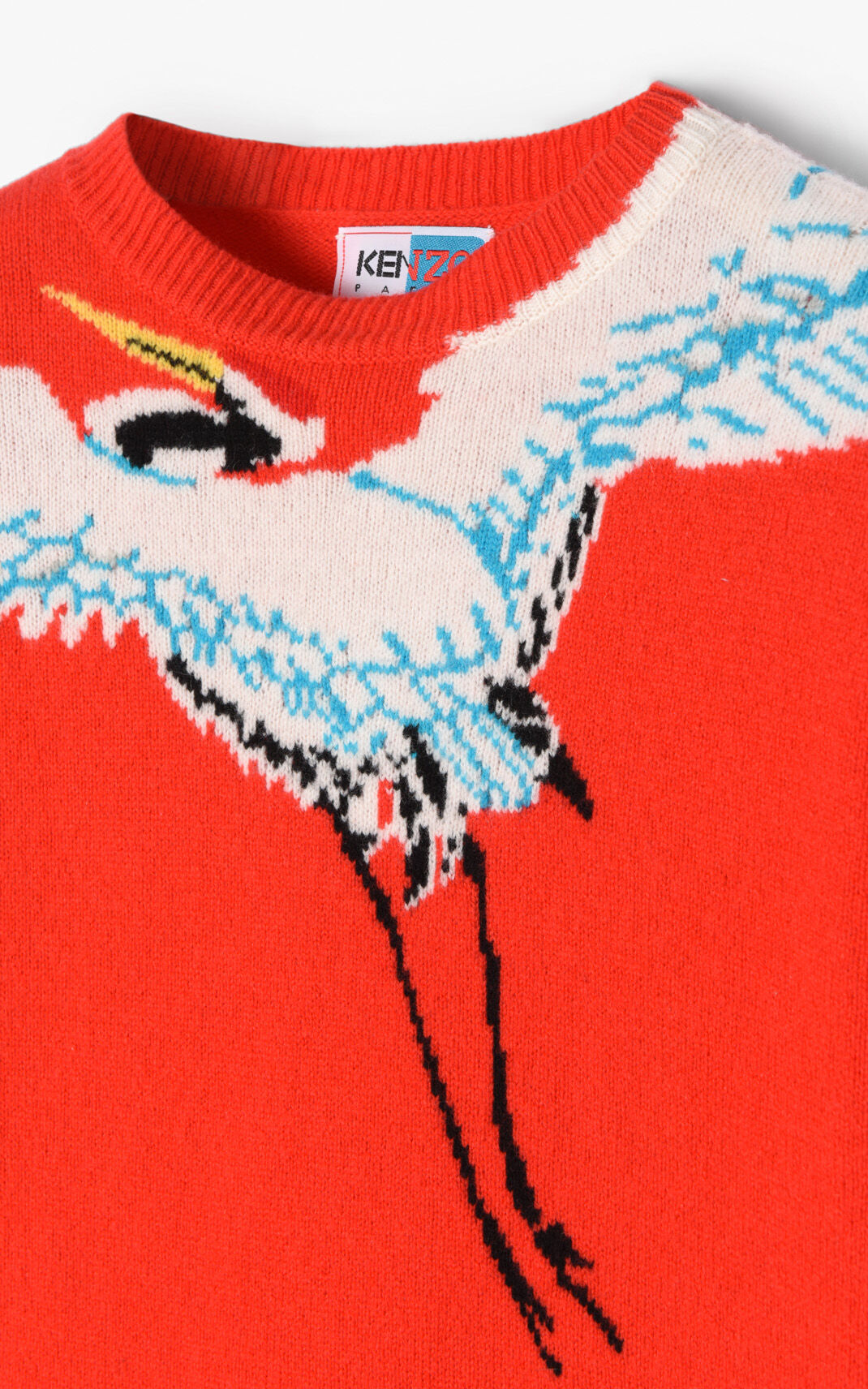 MEDIUM RED Crane' Sweater for men KENZO