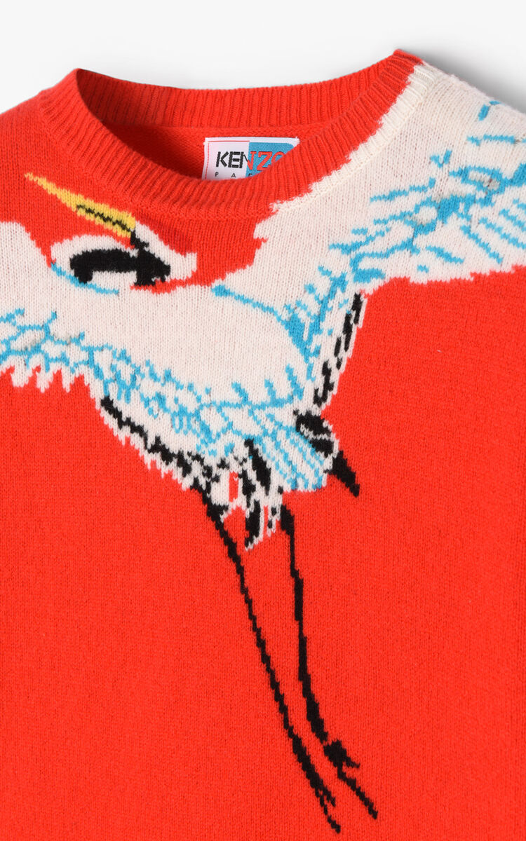 MEDIUM RED Crane' Sweater for women KENZO