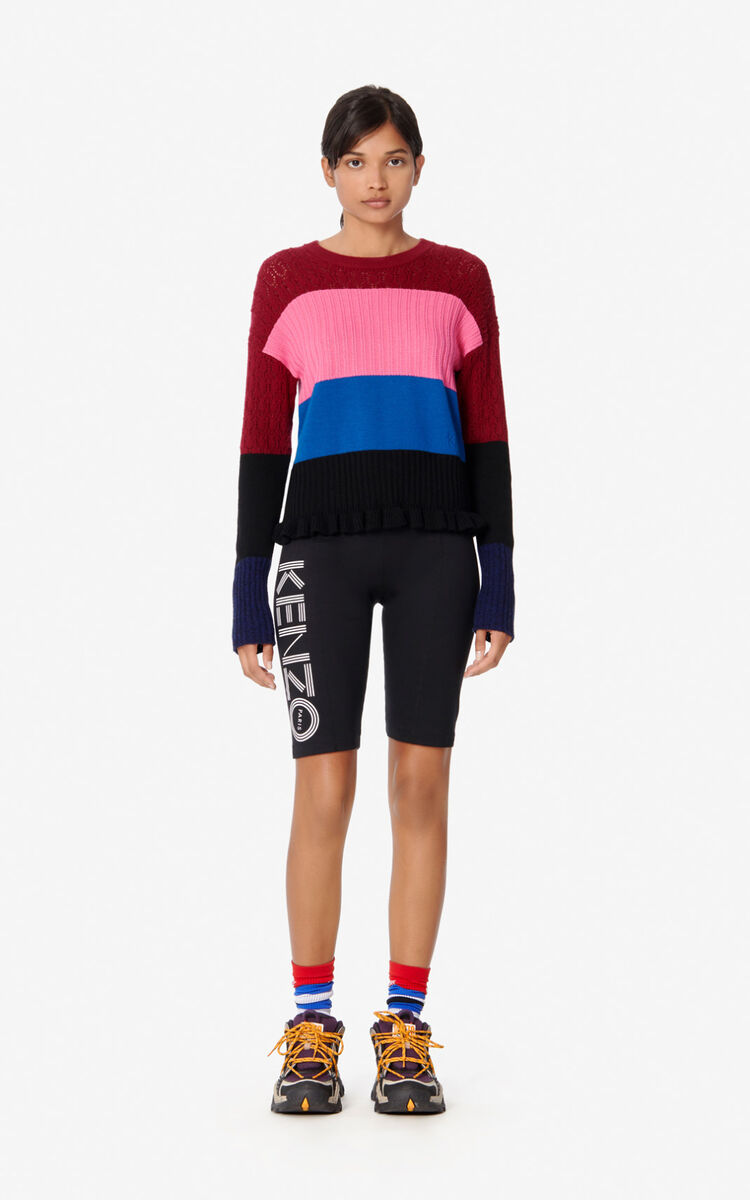 BORDEAUX Wool and cashmere striped jumper for men KENZO