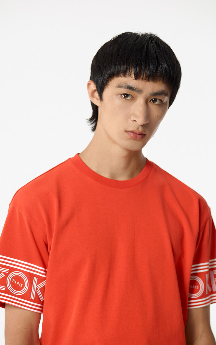 MEDIUM RED KENZO Logo T-shirt for men