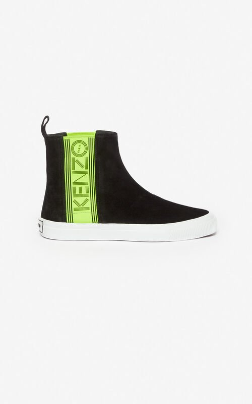 BLACK Kapri slip-on high top shoes for unisex KENZO