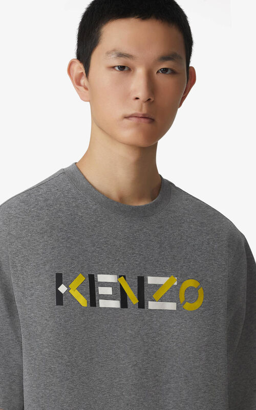 DOVE GREY KENZO Logo t-shirt for women