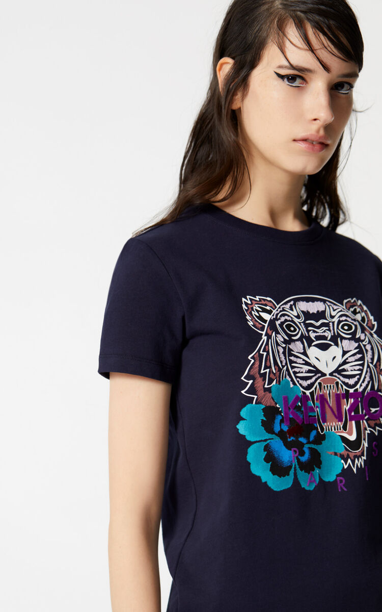INK 'Indonesian Flower' Tiger t-shirt for women KENZO