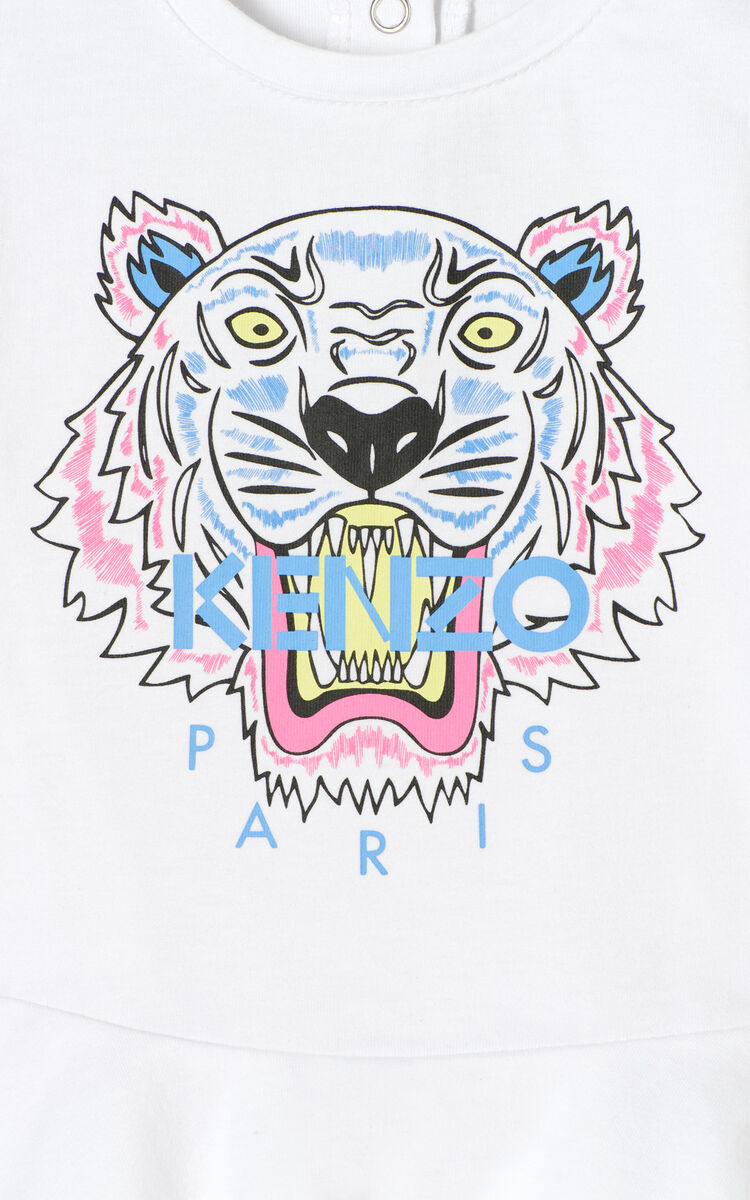 WHITE Tiger skater dress for women KENZO