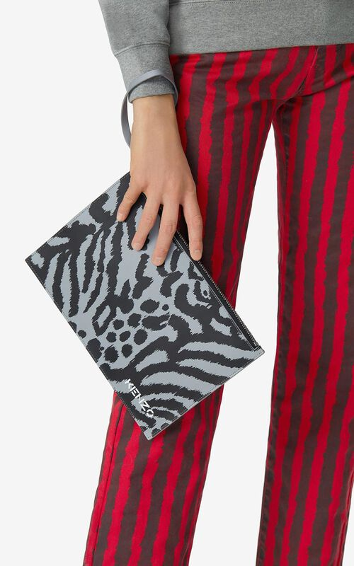 ANTHRACITE Leather clutch for women KENZO