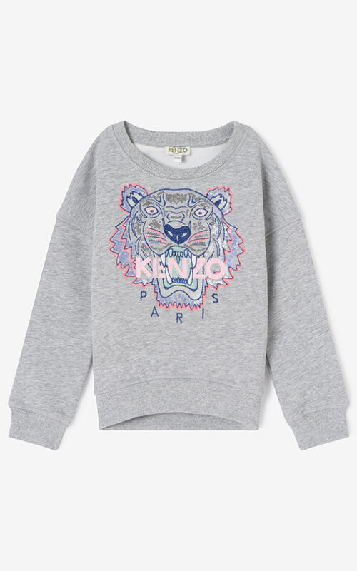 PEARL GREY Tiger Sweatshirt for women KENZO