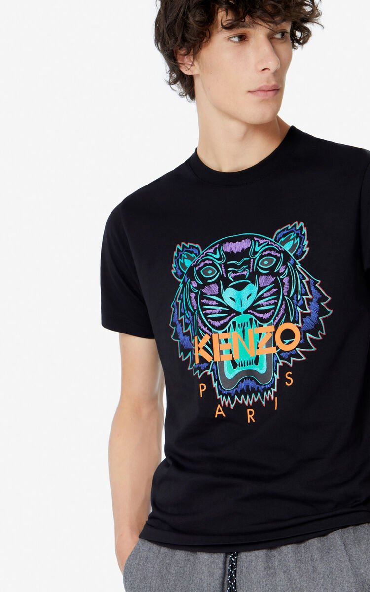 BLACK 'Holiday Capsule' Tiger T-shirt for men KENZO