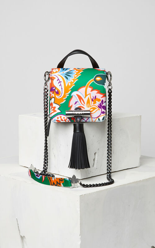 GRASS GREEN Cashmere print mini Sailor Bag for women KENZO